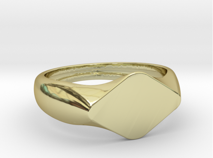 TASSO Ring 3d printed TASSO Ring in 18k Gold Plated