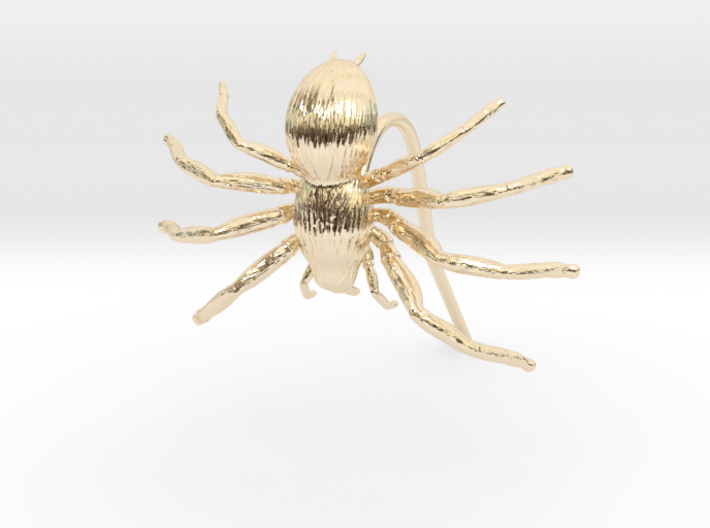 Spider Earring 3d printed