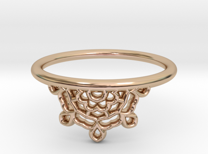 Half Lace Ring - Size 7.5 3d printed