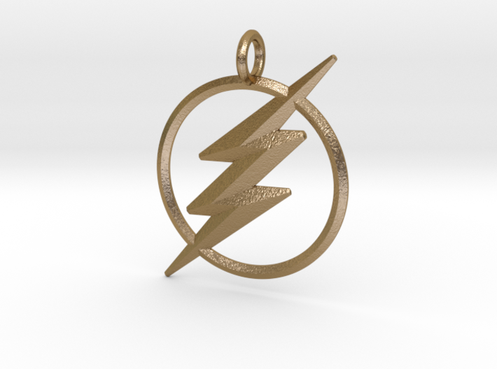 The Flash Keychain 3d printed