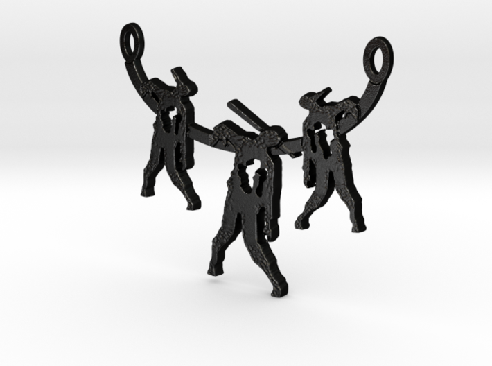 Zombie Trio Pendant 3d printed