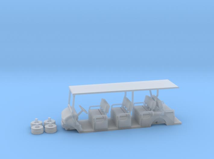 HO/1:87 Buggy 4 seating rows, kit 3d printed