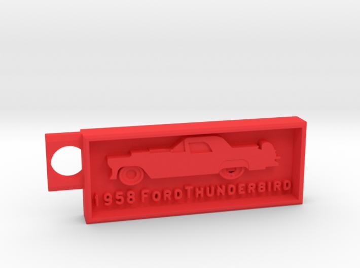 1958 Ford Thunderbird Key Chain 3d printed