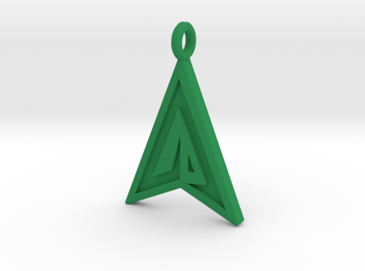 Green Arrow Keychain 3d printed