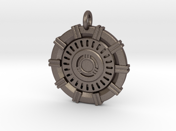 Iron Man Arc Reactor Keychain 3d printed