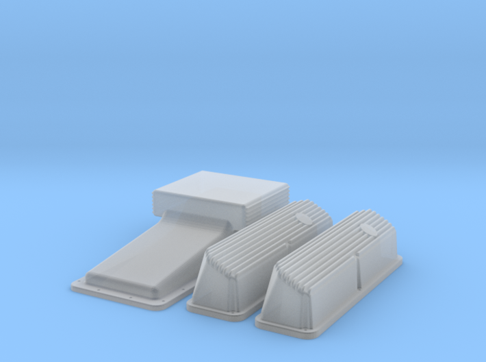 1/43 Ford 427 Side Oiler Finned Pan And Cover Kit 3d printed
