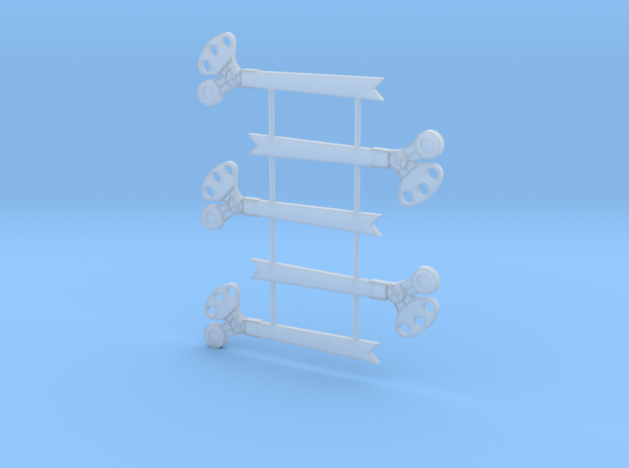 S Scale 3Pos. TO Semaphore Fishtail 3d printed
