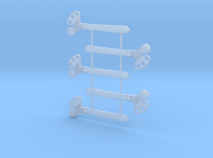 S Scale 3Pos. TO Semaphore Pointed 3d printed