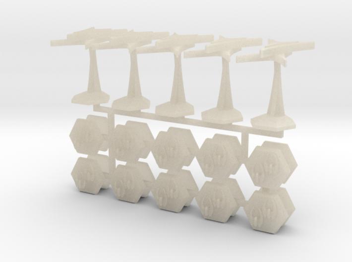 MicroFleet Late-War Toaster Fleet 3d printed