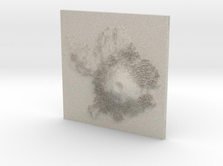 8'' Wizard Island, Oregon, USA, Sandstone 3d printed