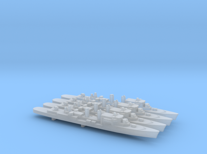 T47 Class AAW Destroyer (1962) x 4, 1/2400 3d printed