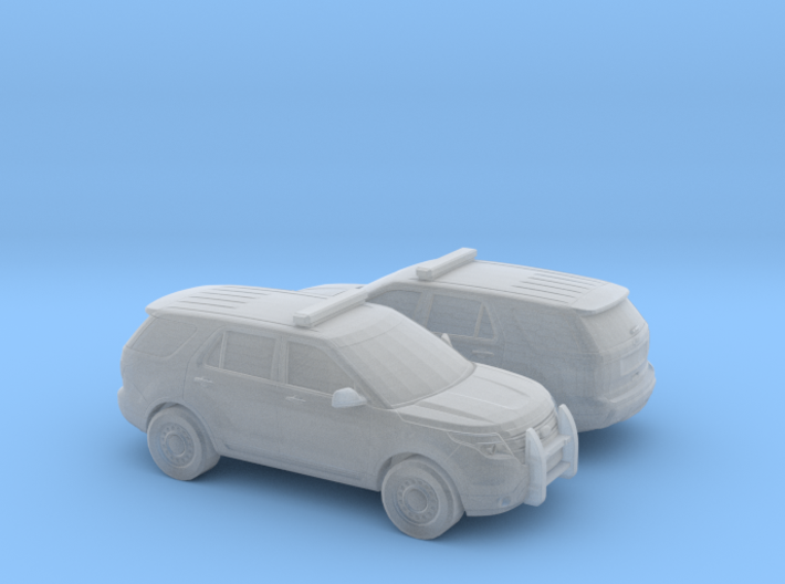 1/160 2X Ford Explorer Police Interceptor 3d printed