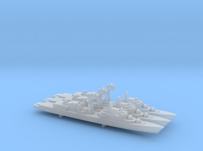 Tourville-class frigate x 3, 1/2400 3d printed