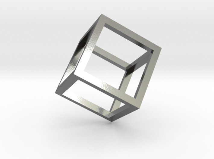 Cube Outline Pendant 3d printed