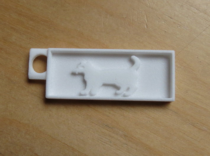 Cat key chain 3d printed