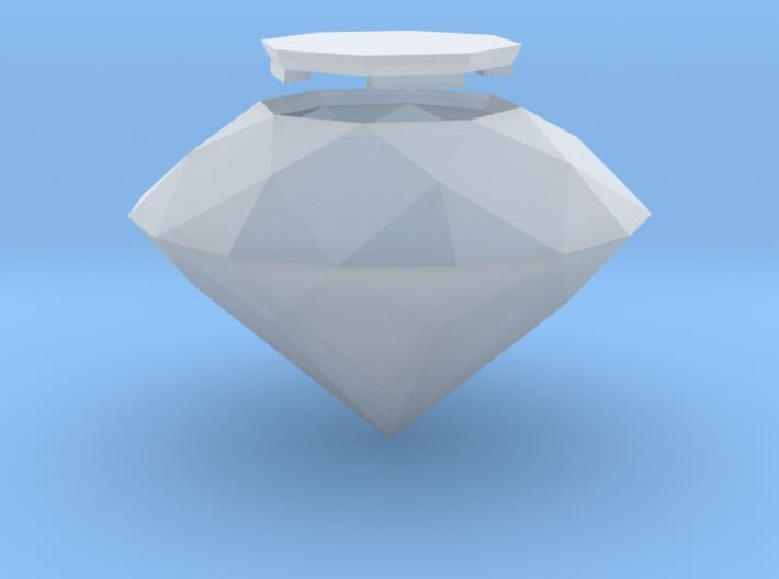 Diamond, Old Cut, hollow 3d printed