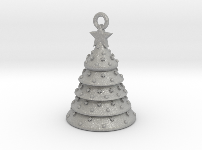Aluminum Christmas Tree Ornament With Moving Parts 3d printed