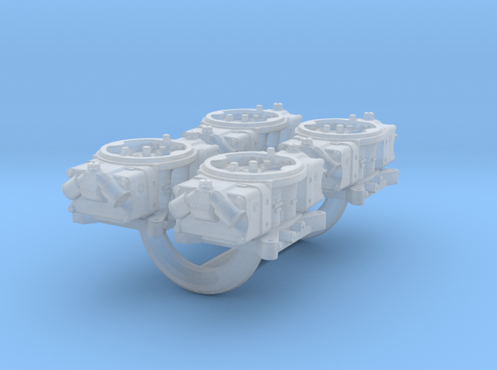 1/43 Scale Holley Double Pumper Kit 3d printed