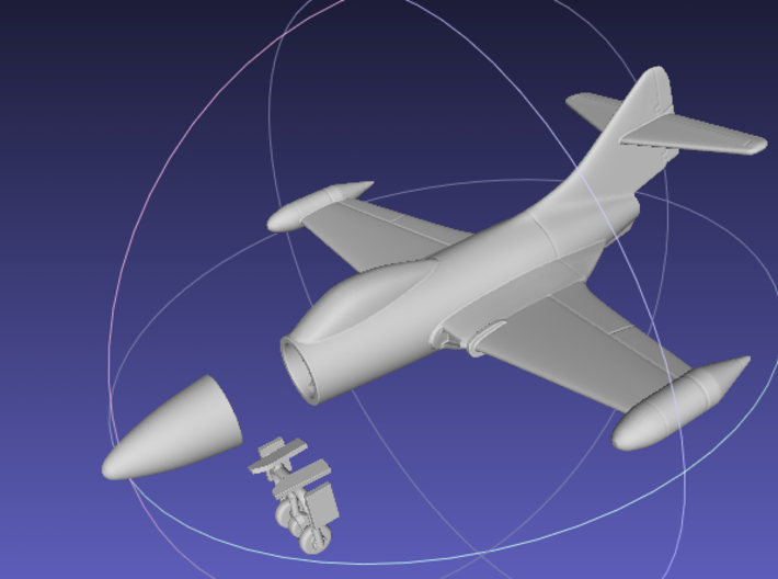 1/144 F9F Panther 3d printed