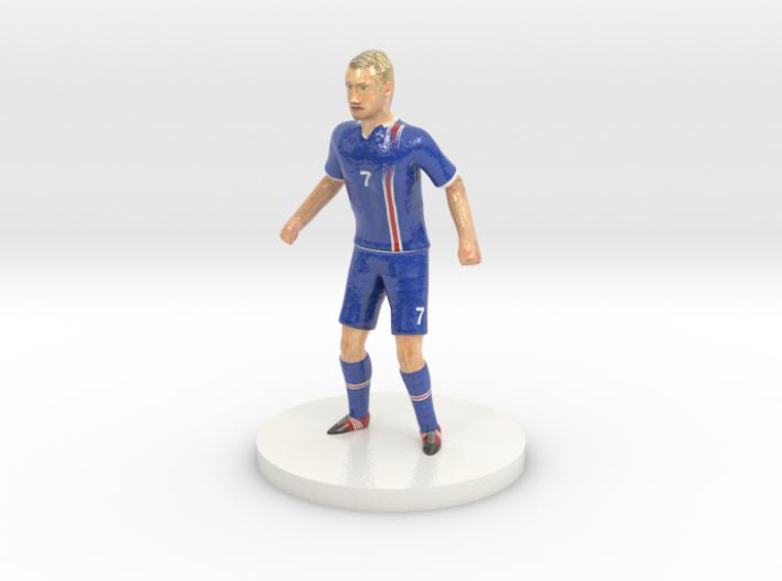 Icelandic Football Player 3d printed