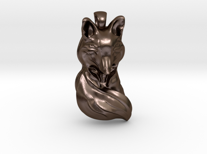 The Sleeping Fox - Pendant 3d printed