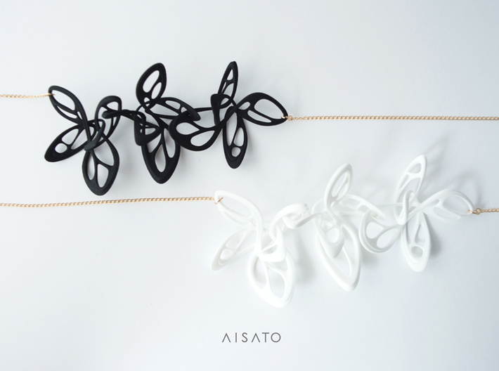 Dancing Butterfly Necklace  3d printed
