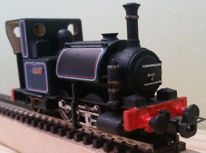 009 Westinghouse Air Pump for Talyllyn Locos 3d printed Printed Pump after painting - Loco NOT Included