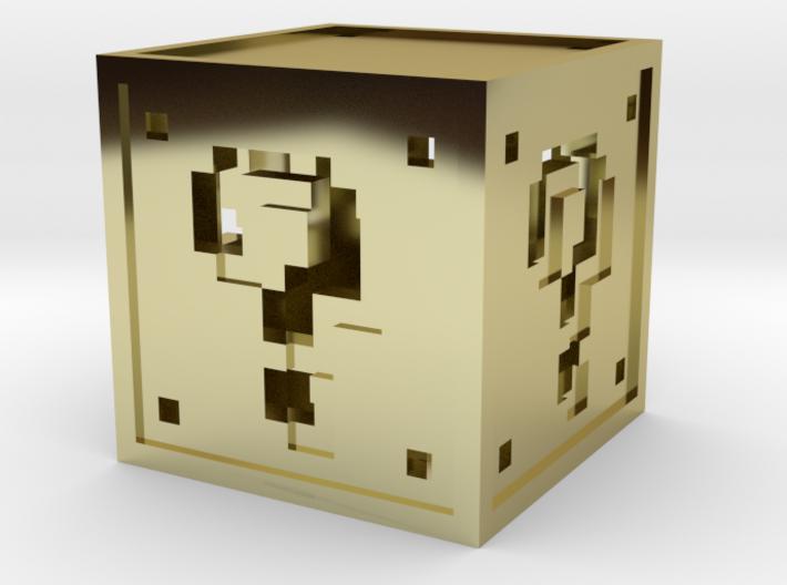 8 bit Mario Block 3d printed
