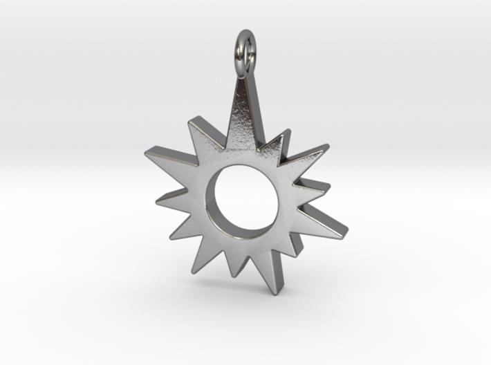 Sunburst Pendant 3d printed