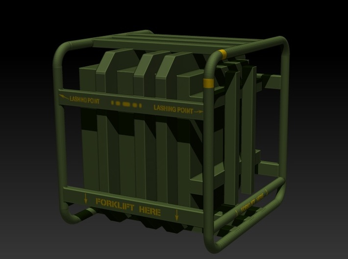 Sulaco Box with Rail 1:10 3d printed