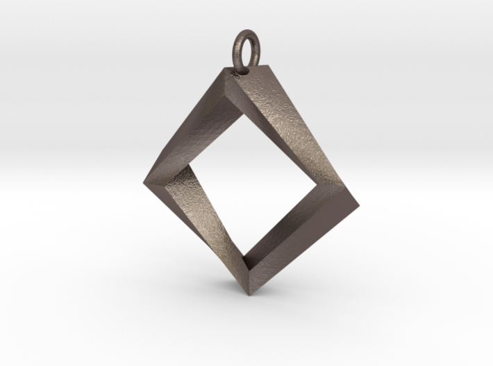 Impossible Square Pendant 3d printed