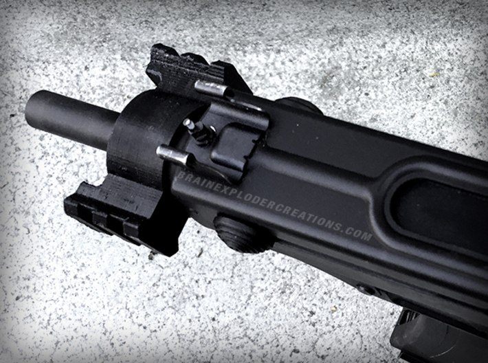 KWA/KSC KZ61 Skorpion Triple Rail Adapter 3d printed Shown in ABS Print