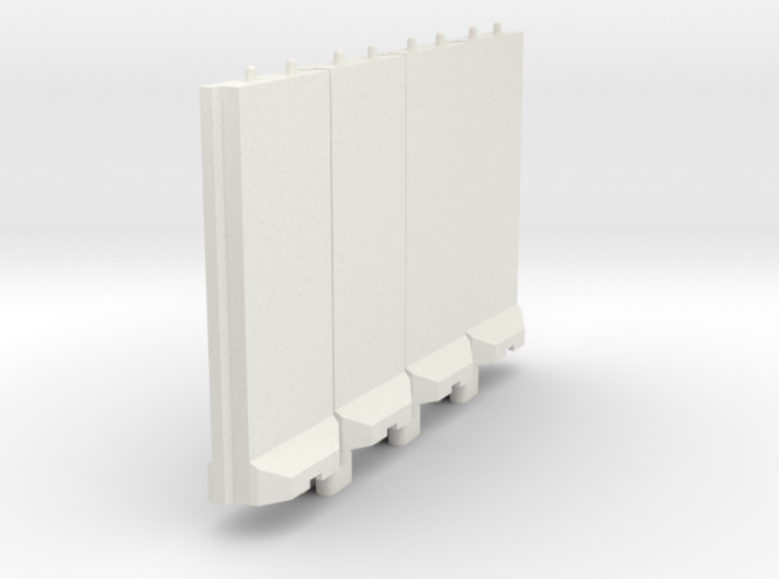 1-100 Concrete T-Wall Section Set 3d printed