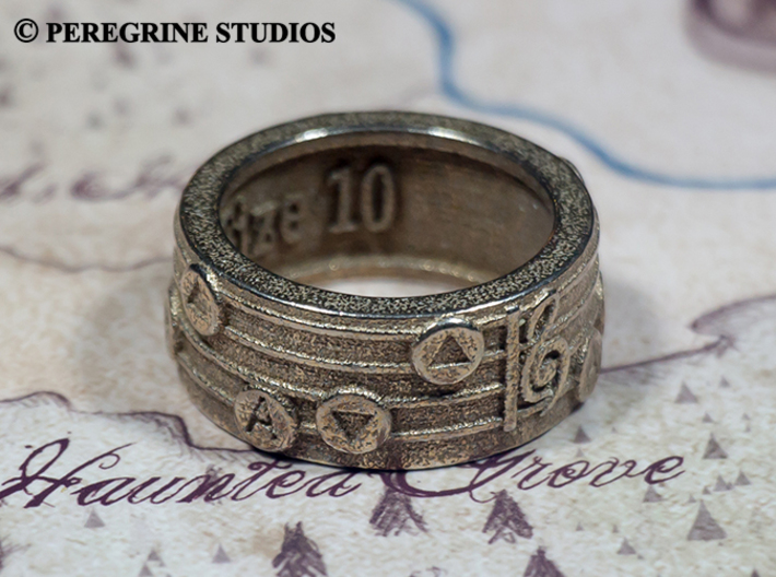 Ring - Song of Storms 3d printed Stainless Steel
