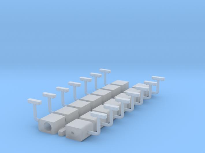 Set armseinlantaarns in 1:43.5 3d printed