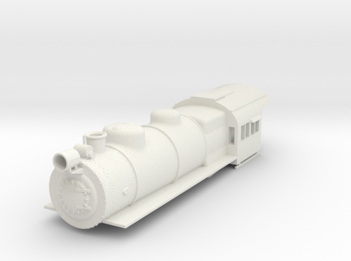 PRR E6 S Scale Boiler and Cab Shell 3d printed