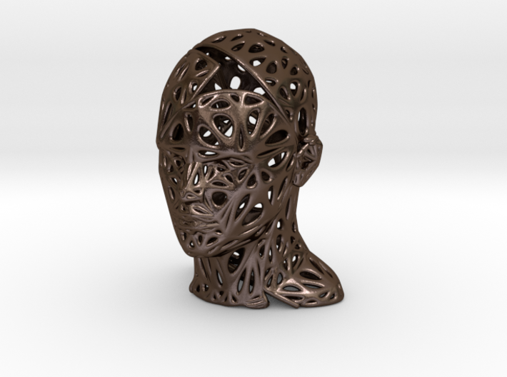 Male Voronoi Head Scale 0.5 3d printed Male Voronoi Head Scale 0.5