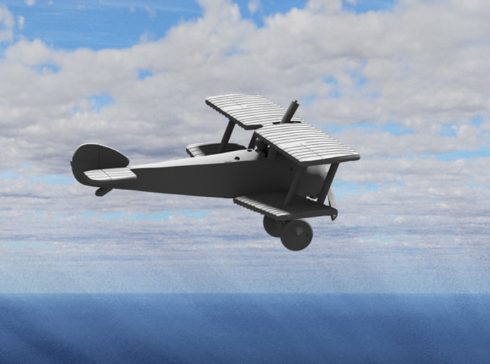 """Sopwith 2F1 """"Ship's Camel"""" (Upward Lewis) 3d printed Computer render of the actual model"""