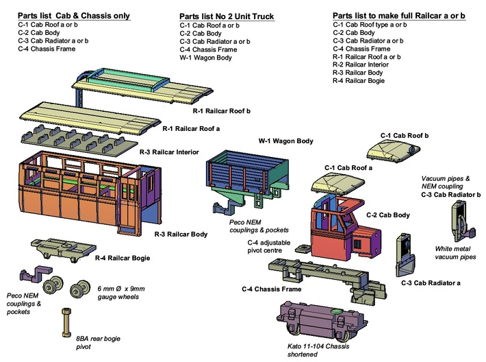 Railcar Bogie (Part R4) 3d printed