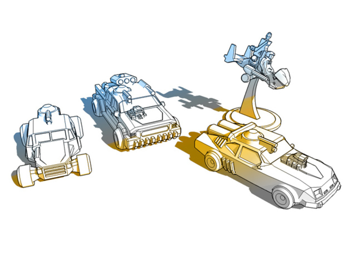 Thunder Road Buggy  3d printed Thunder Road Vehicles