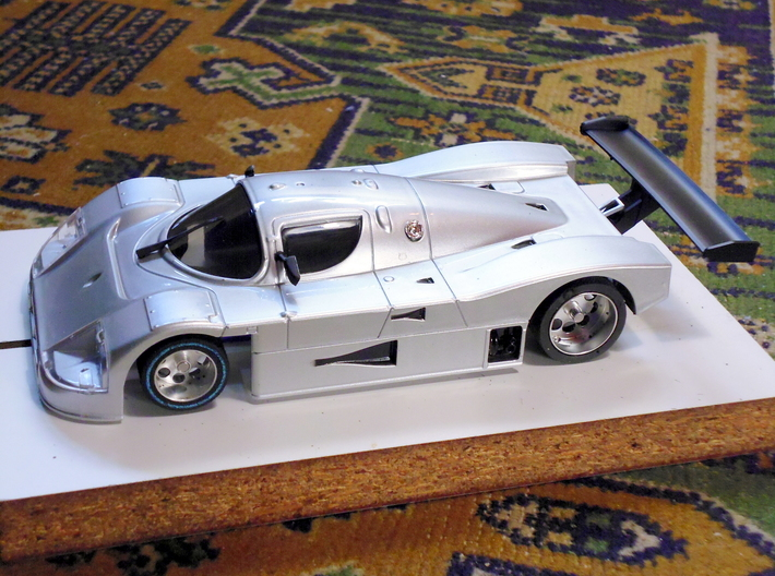 Slot car chassis for C9 1/28 3d printed