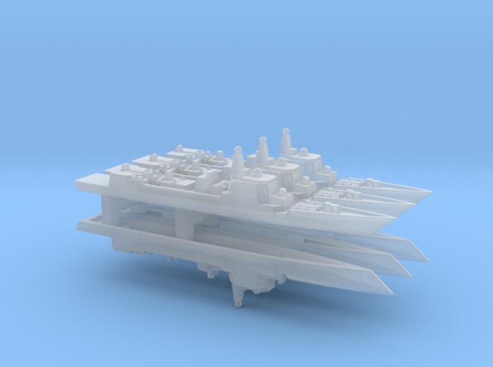 Type 052C Destroyer x 6, 1/6000 3d printed