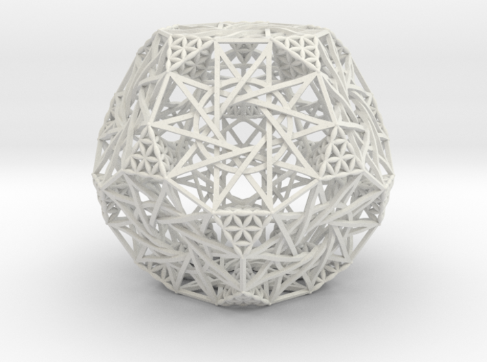 Truncated Hyper-Dodecahedron 3d printed