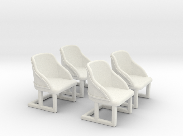 Chair: Cafe or Bistro chair. Four piece set. 3d printed
