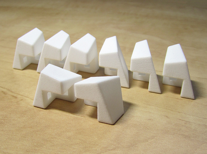 Polyaxis Cube 2x2x2 (DIY) 3d printed Non-assembled pieces (White Strong and Flexible Polished)