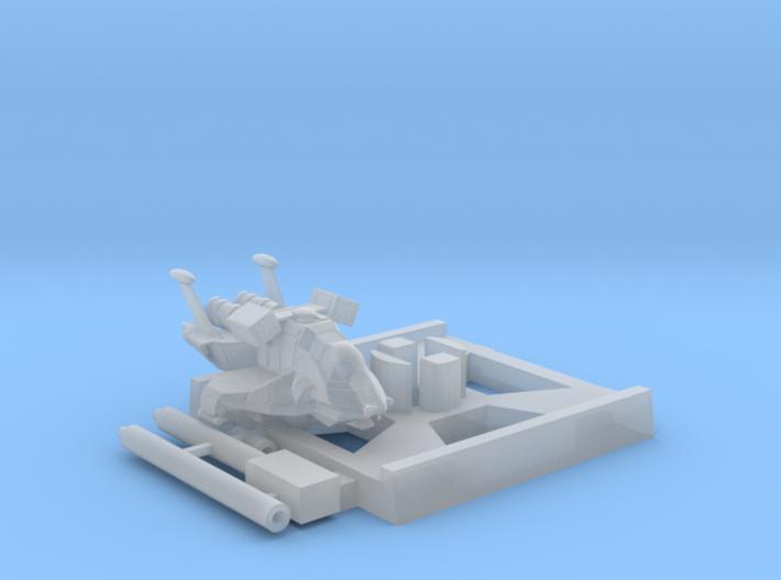 Raptor, Combat, X-Wing Base (BSG), 1/270 3d printed