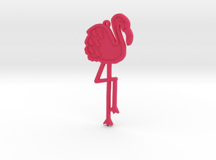 Friendly Flamingo Pendant 3d printed