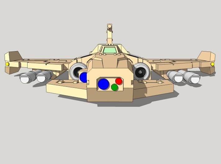 6mm Thunderclap Fighter (4pcs) 3d printed