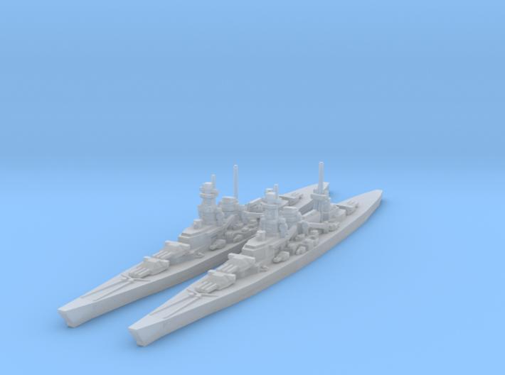 Scharnhorst and Gneisenau 1/4800 3d printed