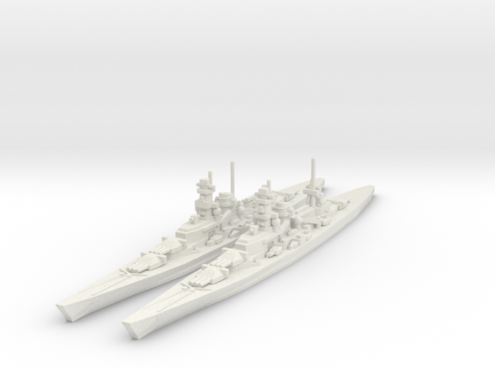 Scharnhorst and Gneisenau 1/1800 3d printed